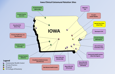 Colleges In Iowa Map academics extramurals | College of Dentistry and Dental Clinics